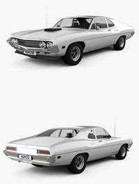 Ford ,Falcon, 429, Super ,Cobra ,Jet, 2-door, 1970 ,3D, model