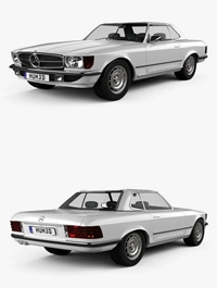 Mercedes-Benz SL-Class R107 coupe 1972 3D model