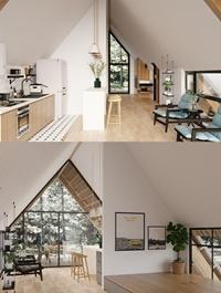 Interior Kitchen Livingroom Scene By VuHungThinh