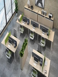 Office desk and chair set