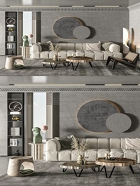 Modern living room sofa and coffee table combination