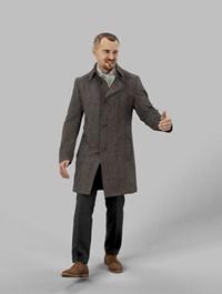 Business Man Walking 3d model