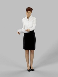 Business Woman Standing 02 3d model