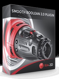 KM-3D SmoothBoolean v2.0 for 3ds Max 2013 - 2021