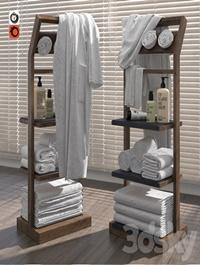 Shelves for bathroom Gunter wooden v2
