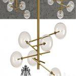 Chandelier Bolle hanging lamp Gallotti & Radice