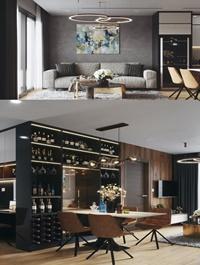 Kitchen – Livingroom Scene 166 3dsmax