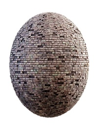 Damaged brick wall PBR Textures