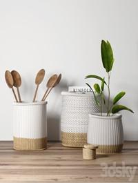 Decorative, set, with, baskets, 2