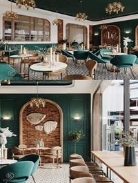 Coffee Shop Interior Scene 06