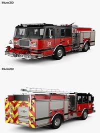 Seagrave Marauder II Fire Truck 2014 3D model