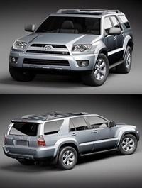 Toyota 4runner 2009 3D Model