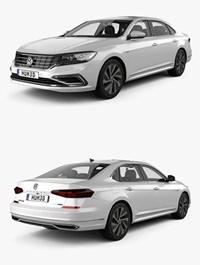 Volkswagen Passat PHEV CN-spec with HQ interior 2019 3D Model