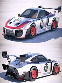 Porsche 935 2019 Moby Dick 3D Model