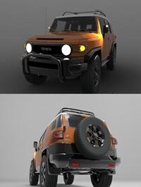 Toyota FJ Cruiser Detailed Design 3D Model