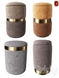 Set of modern ottomans 3