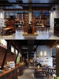Restaurant Scene by Tran Phu