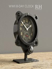 Restoration Hardware WWII 8 Day Clock