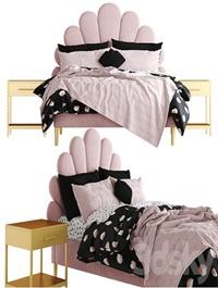 The Emily Meritt Shell Upholstered Bed