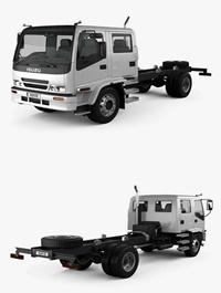Isuzu FTR 800 Crew Cab Chassis Truck 1997 3D Model