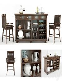 Porter Bar stand and stool