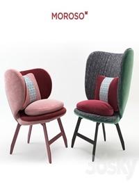 Ariel small armchair & Ayub armchair by Moroso
